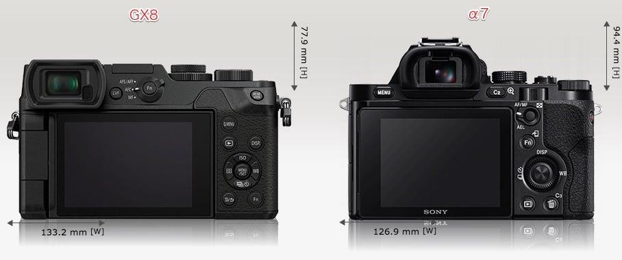 カメラサイズ比較:背面